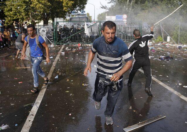 Scontri tra polizia e migranti al confine tra Serbia e Ungheria
