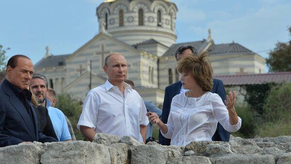 Silvio Berlusconi in Crimea insieme a Vladimir Putin - Sputnik Italia