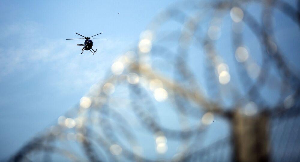 Un elicottero al confine serbo-ungherese