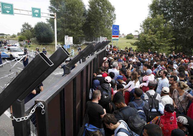 Migranti al confine serbo-ungherese