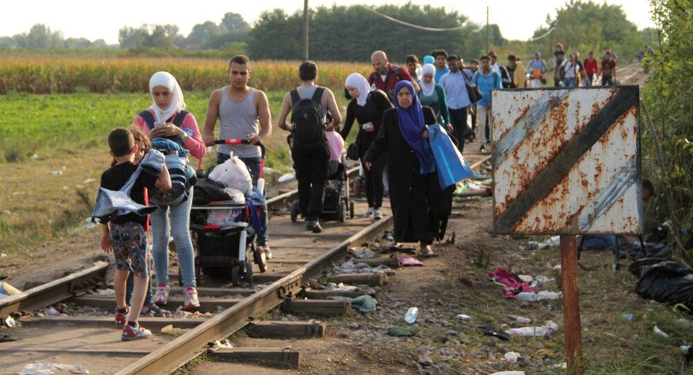 Profughi al confine serbo-ungherese