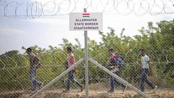 Rifugiati al confine serbo-ungherese - Sputnik Italia