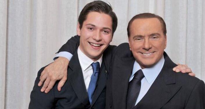 Alessandro Bertoldi e Silvio Berlusconi