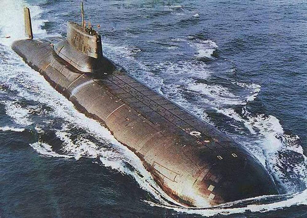 Un sottomarino del Progetto 941 Akula (squalo).