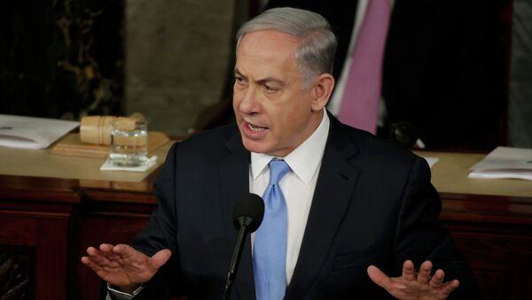 Il discorso del primo ministro Benjamin Netanyahu nel Congresso americano,  il 3 Marzo 2015. - Sputnik Italia