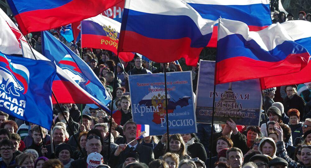 Primo anniversario della riunificazione della Crimea con la Russia (foto d'archivio)