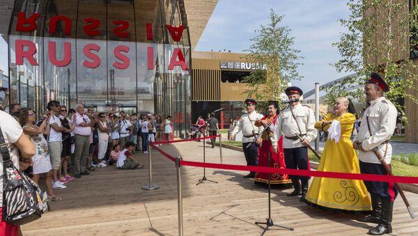 I cosacchi del Don al padiglione russo di EXPO - Sputnik Italia