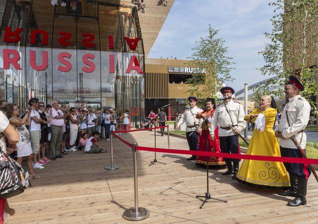 I cosacchi del Don al padiglione russo di EXPO