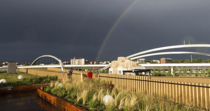 Veduta dalla terrazza del padiglione russo a EXPO 2015.