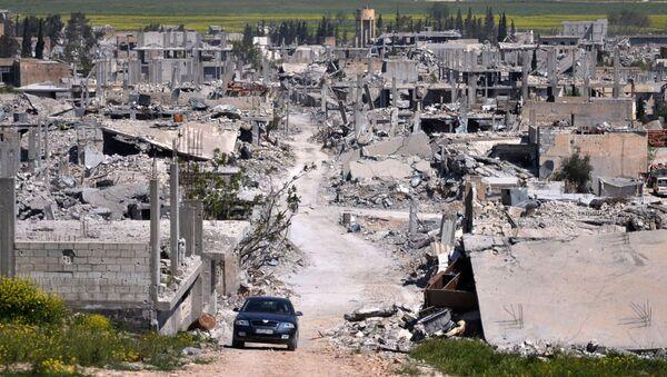 Вид на разрушенный Кобани, Сирия - Sputnik Italia