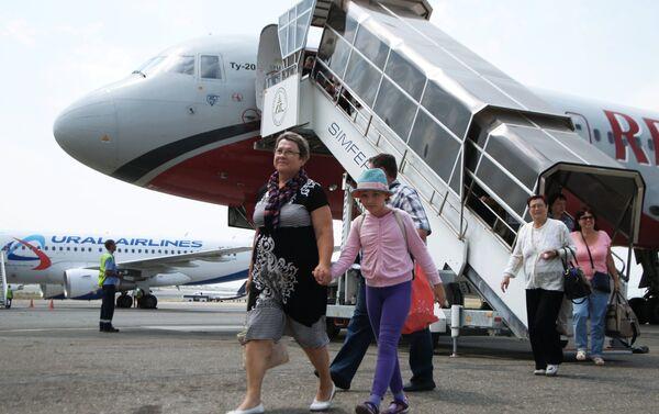 Passeggeri all'aeroporto di Simferopoli - Sputnik Italia