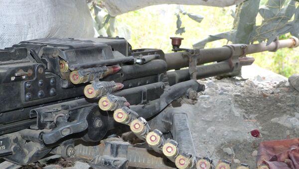 Una mitragliatrice delle forze militari di Donetsk - Sputnik Italia
