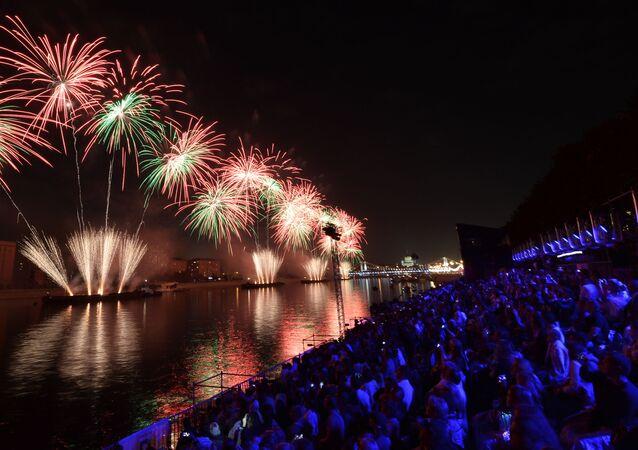 La cerimonia dell'apertura del Festival internazionale di Mosca Cerchio di luce nel 2015.