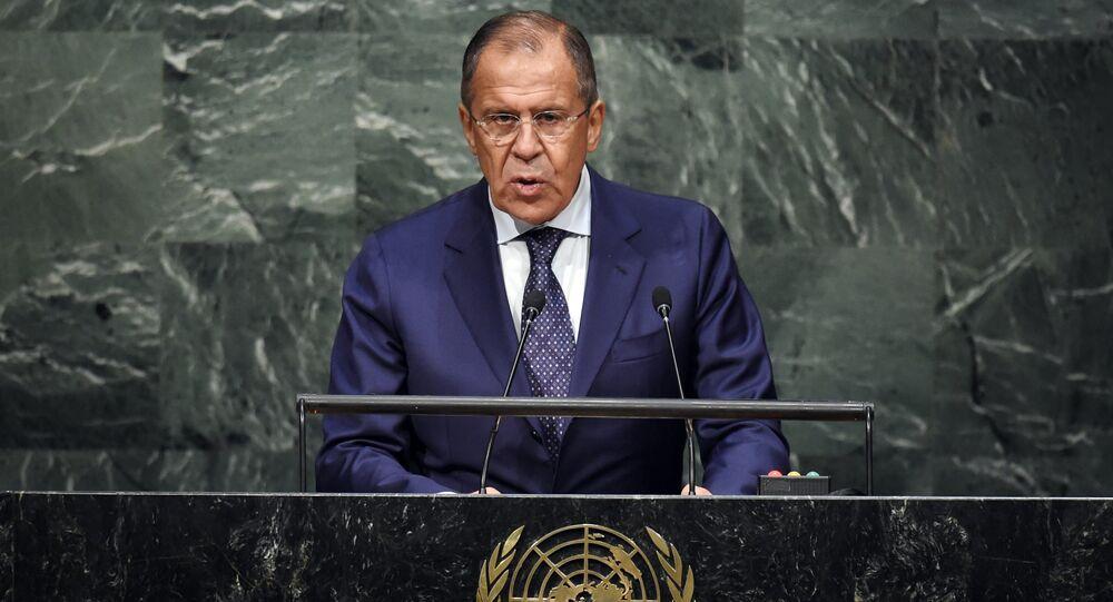 Sergey Lavrov all'Assemblea Generale ONU