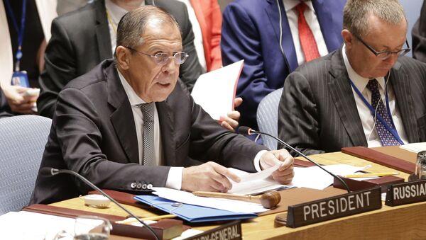 Sergey Lavrov al Consiglio di Sicurezza dell'ONU - Sputnik Italia
