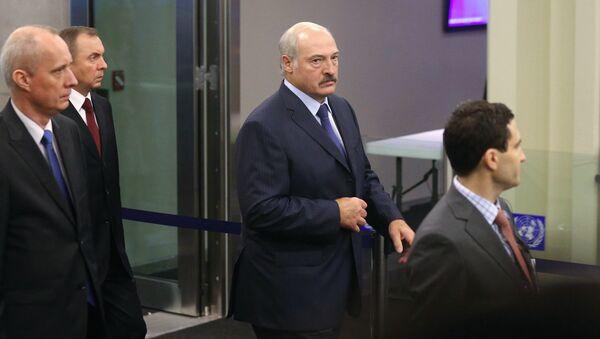 Il presidente bielorusso all'arrivo all'assemblea dell'ONU a New York - Sputnik Italia