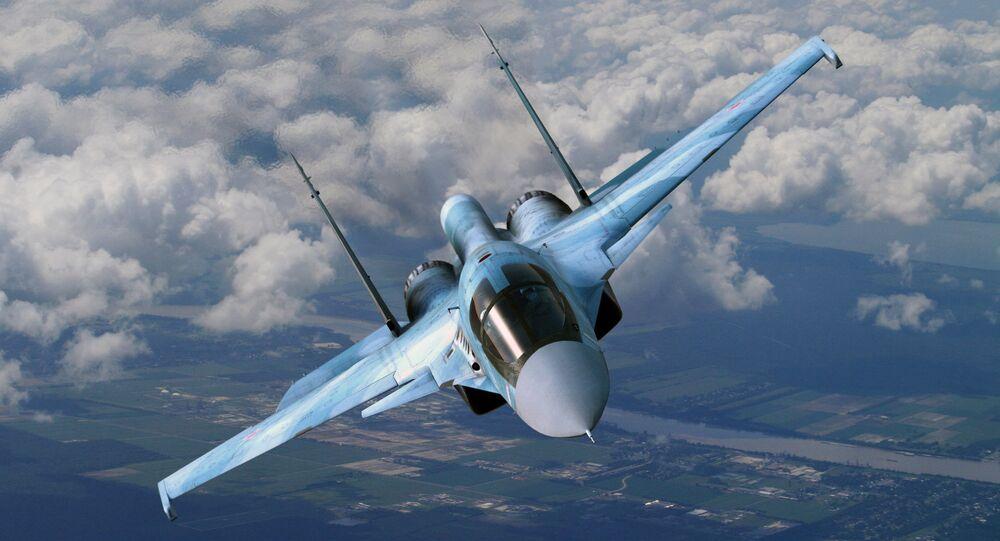 Caccia russo Sukhoi Su-34 (foto d'archivio)
