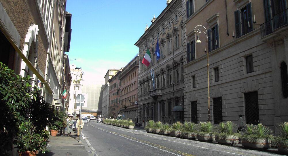 Il Palazzo Madama a Roma, la sede del Senato italiano