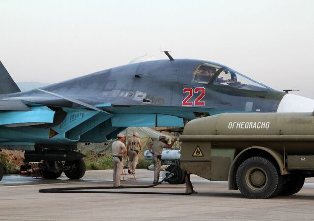 Caccia russo nella base siriana di Hmeimim