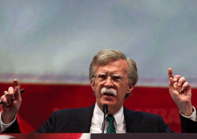 L'ex ambasciatore degli USA alle Nazioni Unite, John Bolton.