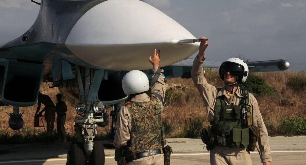 Piloti russi nella base di Hmeimim in Siria