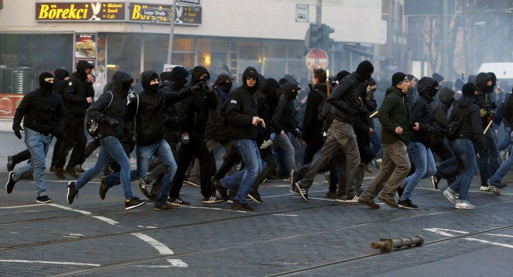 movimento  Blockupy a Francoforte