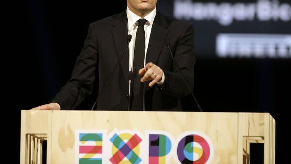 Премьер-министр Италии Маттео Ренци - Sputnik Italia
