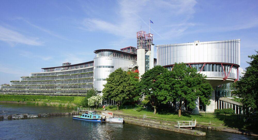La Corte Europea dei Diritti dell'Uomo a Strasburgo.