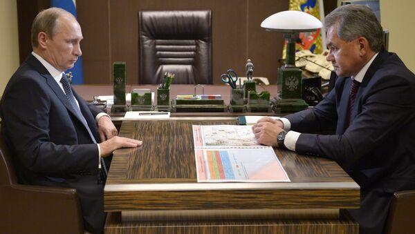Incontro tra Vladimir Putin e Sergey Shoygu - Sputnik Italia