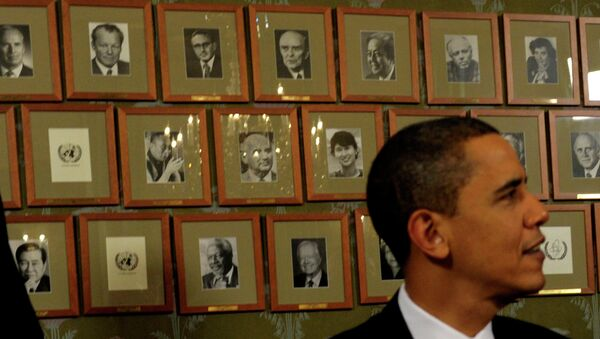 Barack Obama, Nobel per la pace nel 2009 - Sputnik Italia