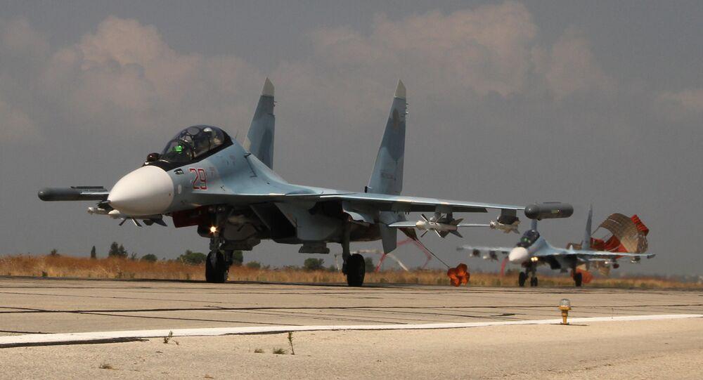2 caccia russi Su-30 in Siria