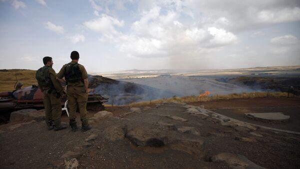 I soldati israeliani vicino alle alture di Golan - Sputnik Italia