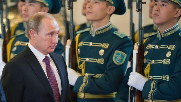 Vladimir Putin in visita in Kazakistan - Sputnik Italia