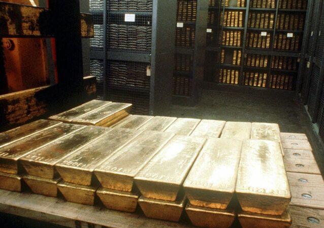 Lingotti d'oro (foto d'archivio)