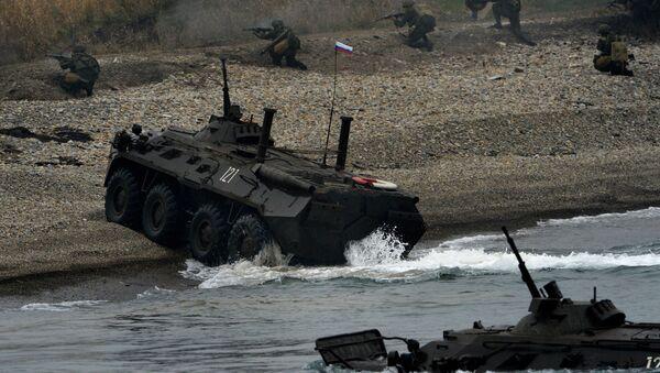 Esercitazioni delle truppe aviotrasportate della Flotta del Pacifico. - Sputnik Italia