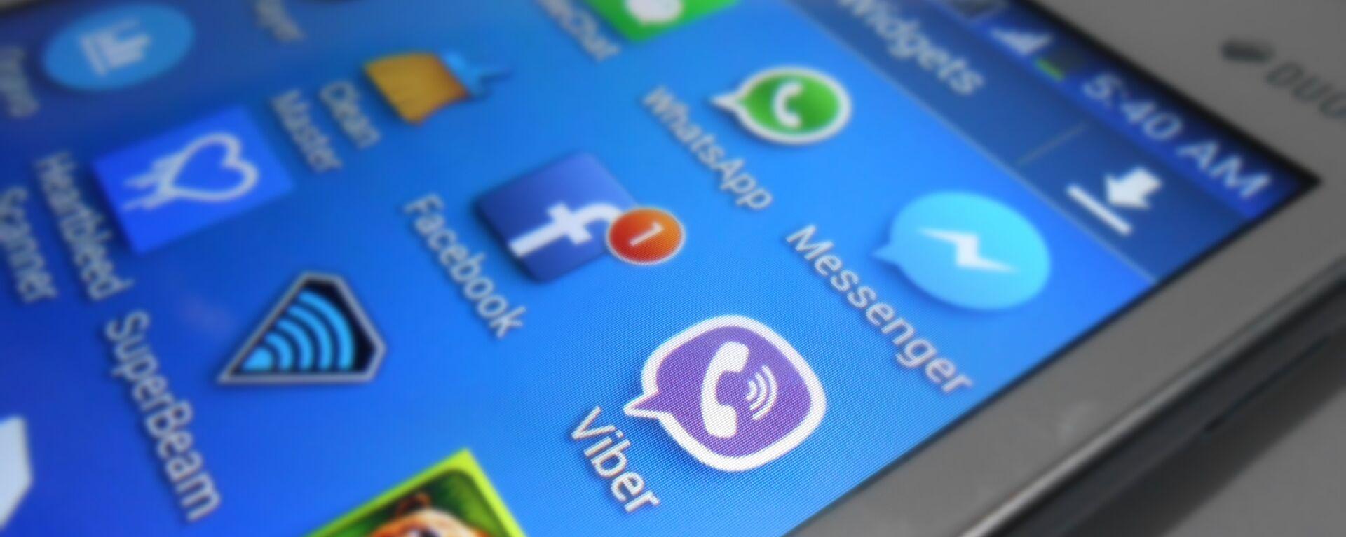 Viber, WhatsApp and other applications. - Sputnik Italia, 1920, 01.07.2021