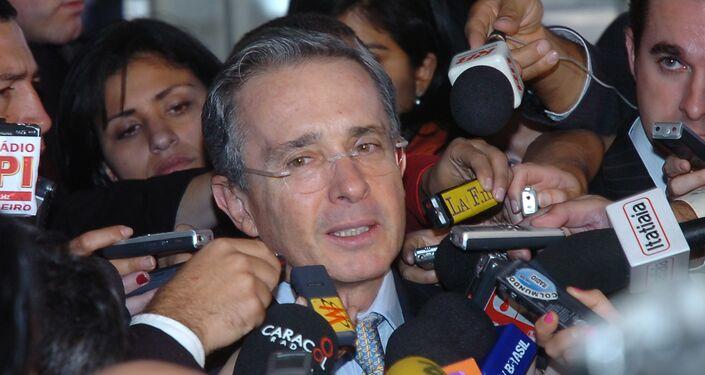 Alvaro Uribe Velez, Presidente della Colombia in carica dal 2002 al 2010.