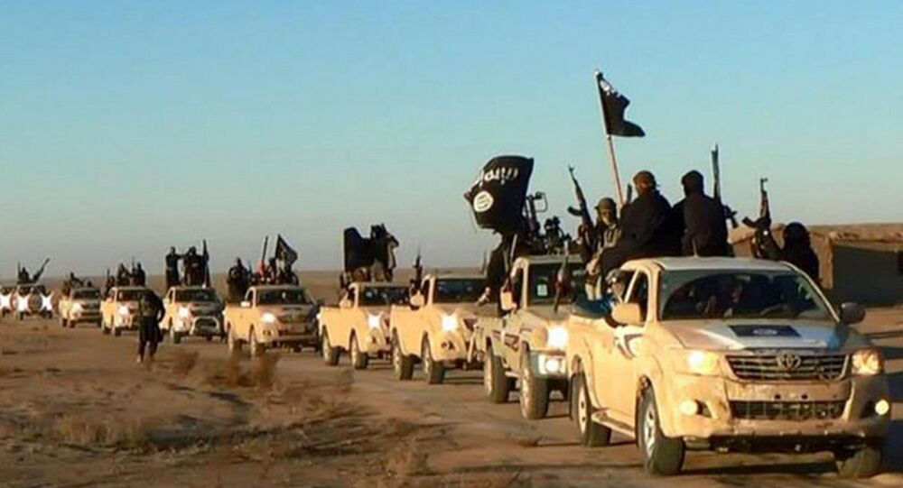Colonna di combattenti di ISIS