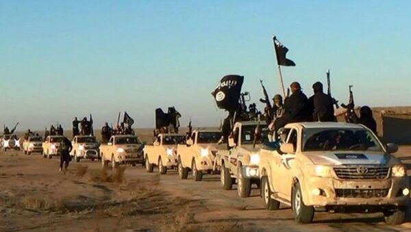 Colonna di combattenti del Daesh - Sputnik Italia