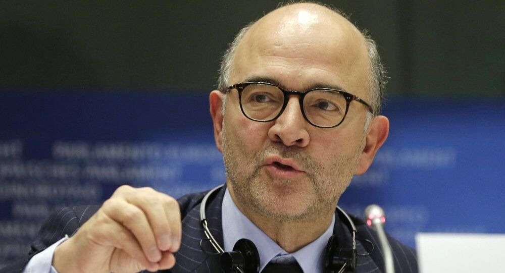Il commissario agli Affari Economici UE, Pierre Moscovici