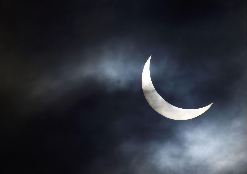 L'eclisse solare a Bridgewater.