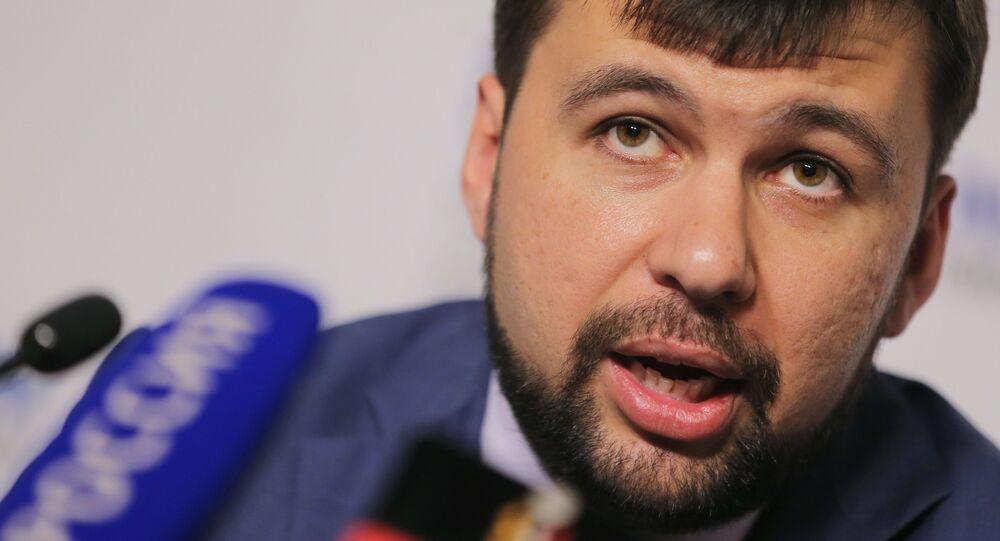 Denis Pushilin, inviato speciale DNR nel gruppo di contatto a Minsk