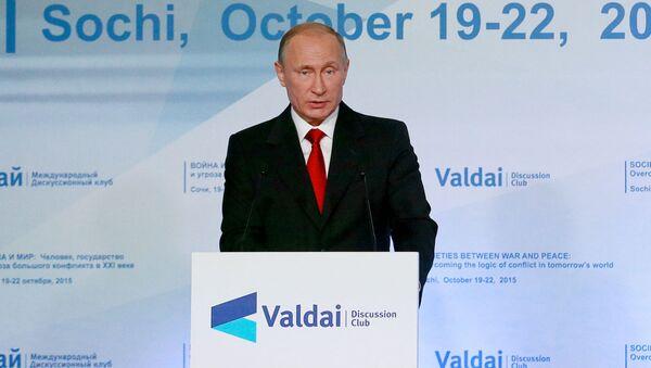 Il presidente russo Vladimir Putin interviene a una sessione del Valdai International Discussion Club - Sputnik Italia
