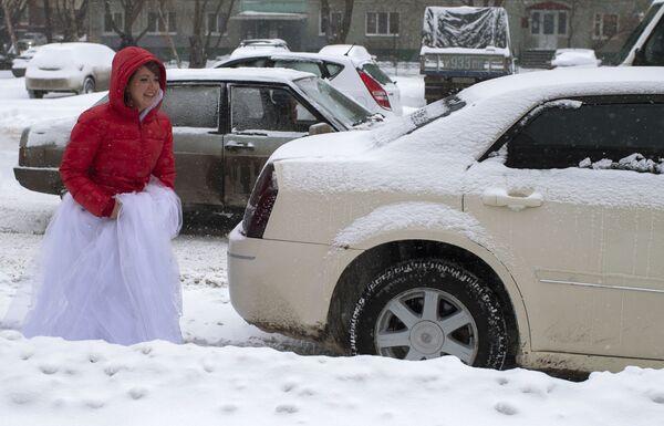Omsk sotto la neve - Sputnik Italia