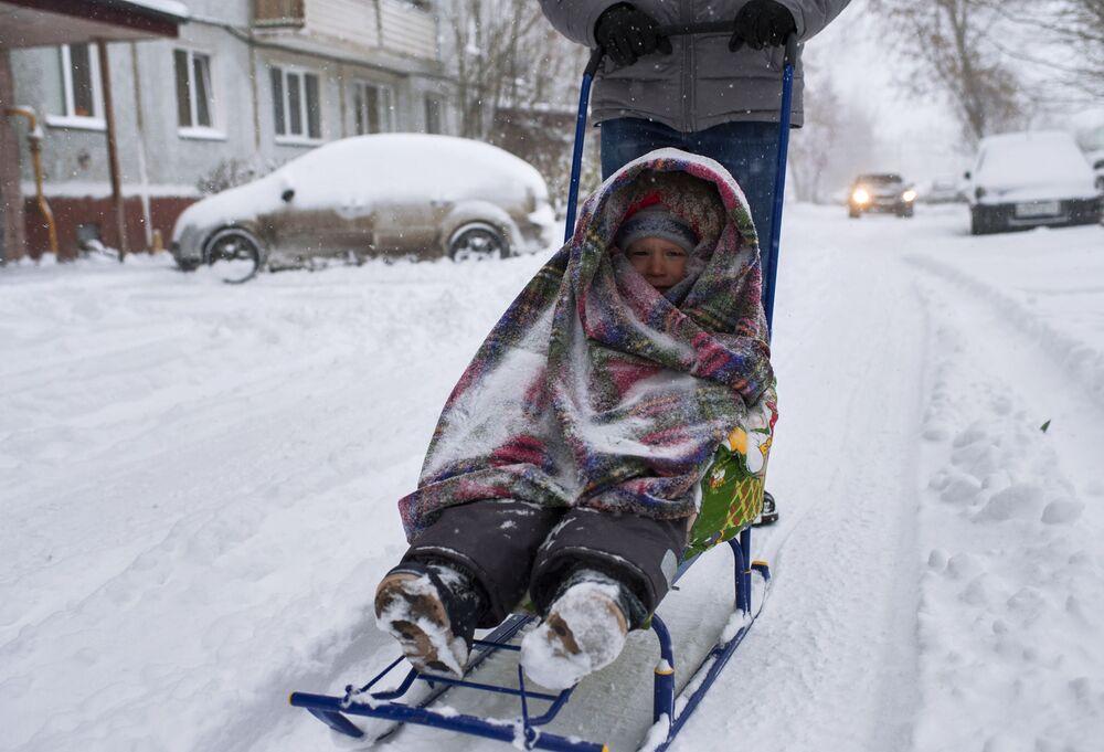 Omsk sotto la neve