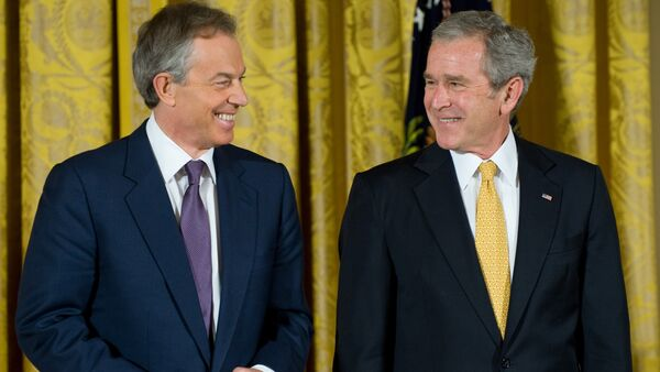 Tony Blair e George W. Bush - Sputnik Italia