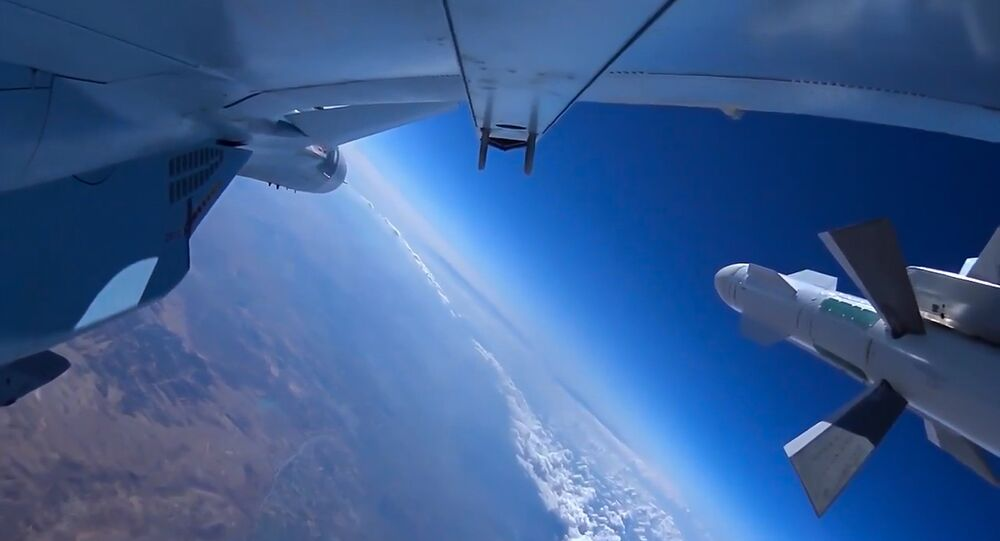 Russian Aerospace Force jet during a combat mission in Syria