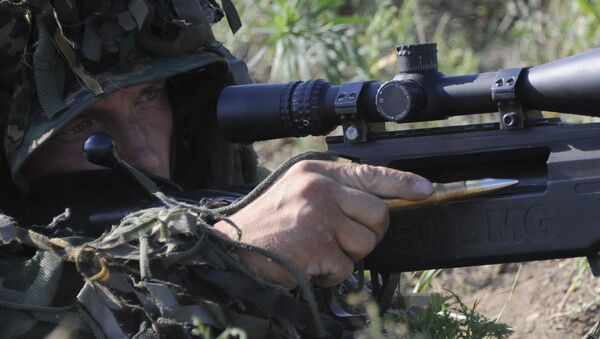 A Russian Special Forces sniper during drills in the country's Rostov region - Sputnik Italia