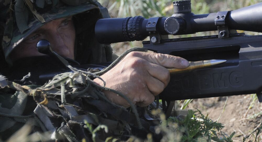 A Russian Special Forces sniper during drills in the country's Rostov region