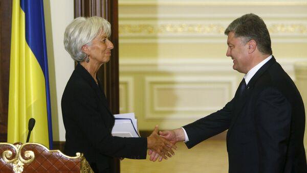 Incontro tra direttore FMI Christine Lagarde e presidente ucraino Petr Poroshenko - Sputnik Italia